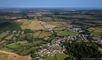 Llanrhidian Gower Peninsula, South Wales from the air