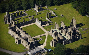 Neath Abbey aerial photograph