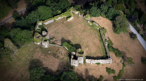 Penrice Castle from the air
