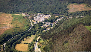 Pontrhydyfen  South Wales from the air