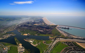 Port Talbot Steelworks aerial photograph