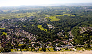 Blackpill Swansea Wales aerial photograph
