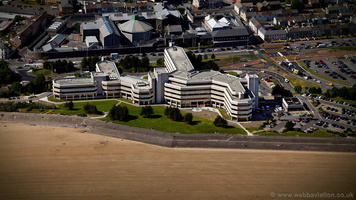 Civic Centre, Swansea Wales aerial photograph
