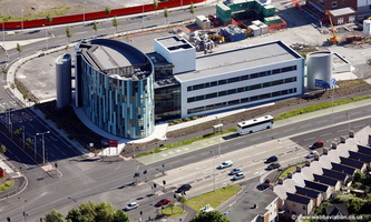 the Ellipse Building Swansea Wales aerial photograph