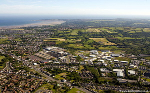 Fforestfach Swansea Wales aerial photograph