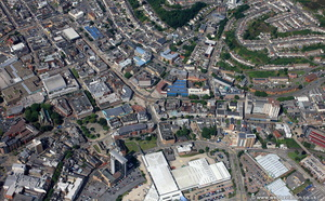 High St Swansea aerial photograph