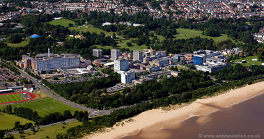 Singleton Hospital and Swansea University  Wales aerial photograph