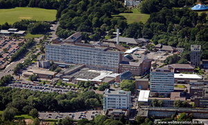 Singleton Hospital Swansea Wales aerial photograph