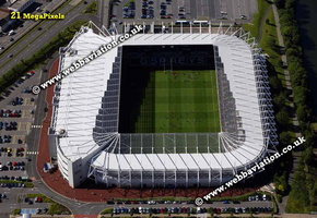 The Liberty Stadium ( Stadiwm Liberty)  Swansea, aerial photograph