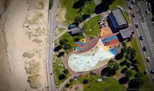 Blackpill Beach Swansea Wales aerial photograph