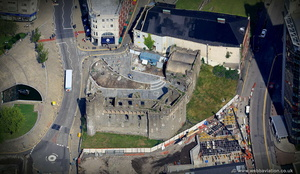 Swansea Castle aerial photograph
