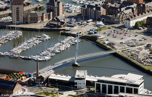 Swansea Sail Bridge Wales aerial photograph