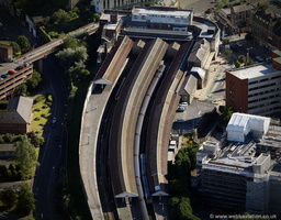 Swansea railway station aerial photograph