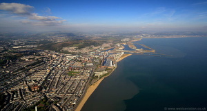 Swansea Wales aerial photograph