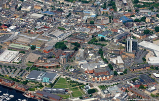 Swansea city centre  aerial photograph