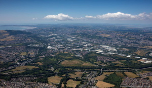 Swansea panoramic from the air