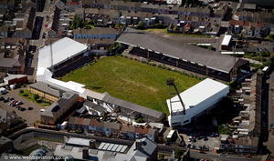 Vetch Field football stadium, Swansea Wales aerial photograph