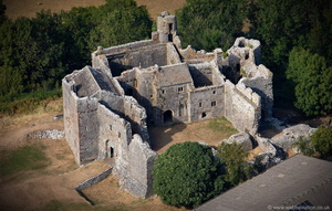 Weobley Castle from the air