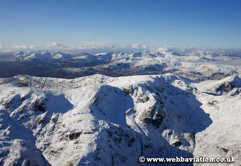 Dollywagon Pike   in the Lake District Cumbria UK aerial photograph