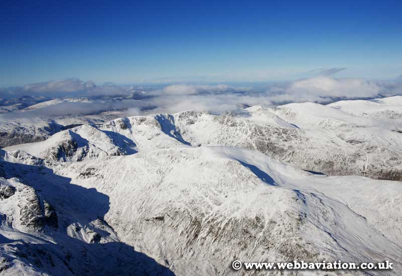 Gavel Pike   in the Lake District Cumbria UK aerial photograph