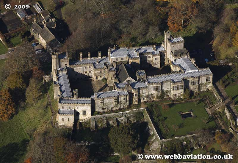 Haddon Hall   Derbyshire  aerial photograph