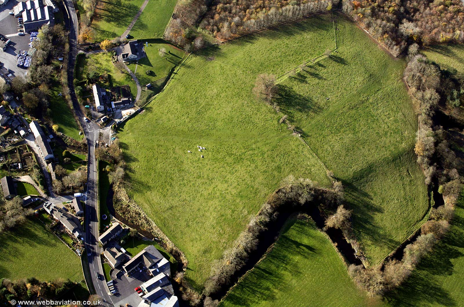 Navio Roman fort from the air