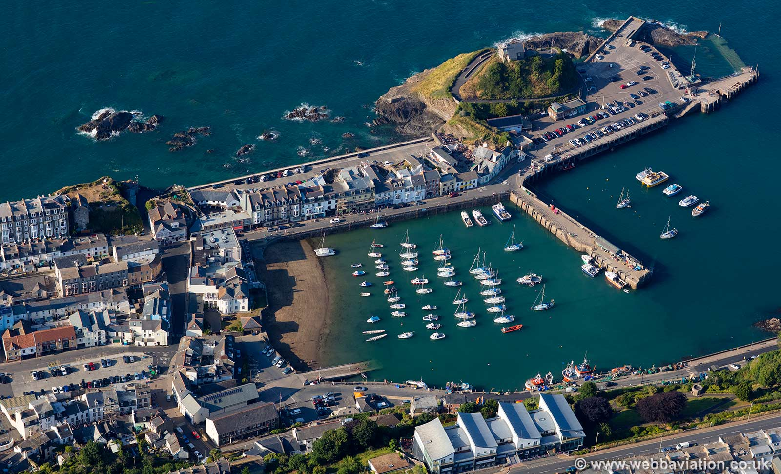 Ilfracombe Harbour aerial photograph
