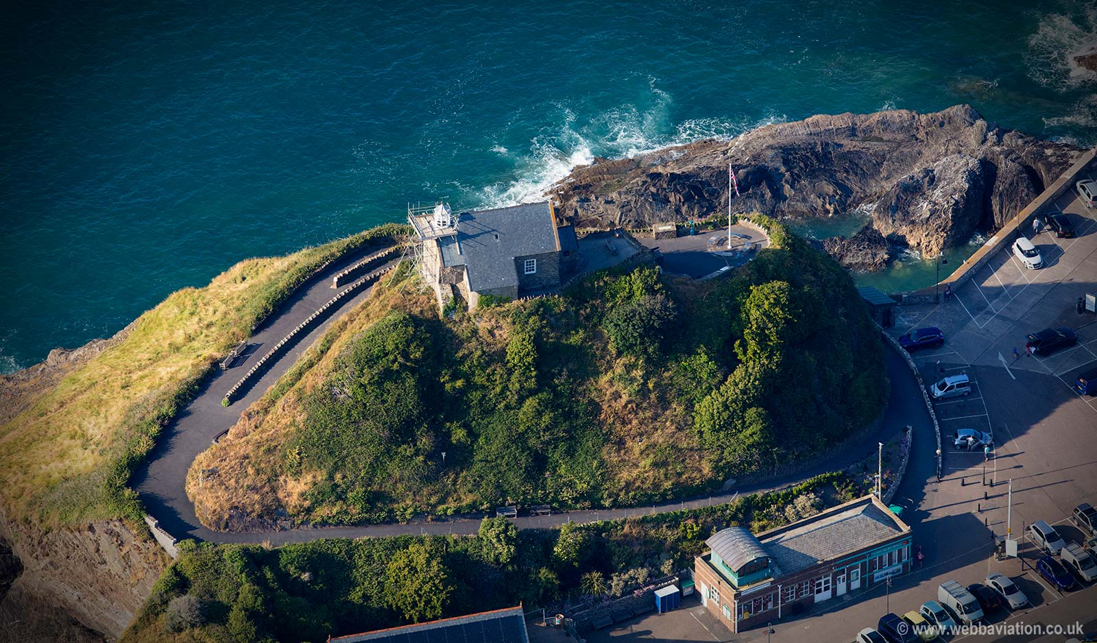 St. Nicholas's Chapel Ilfracombe  aerial photograph