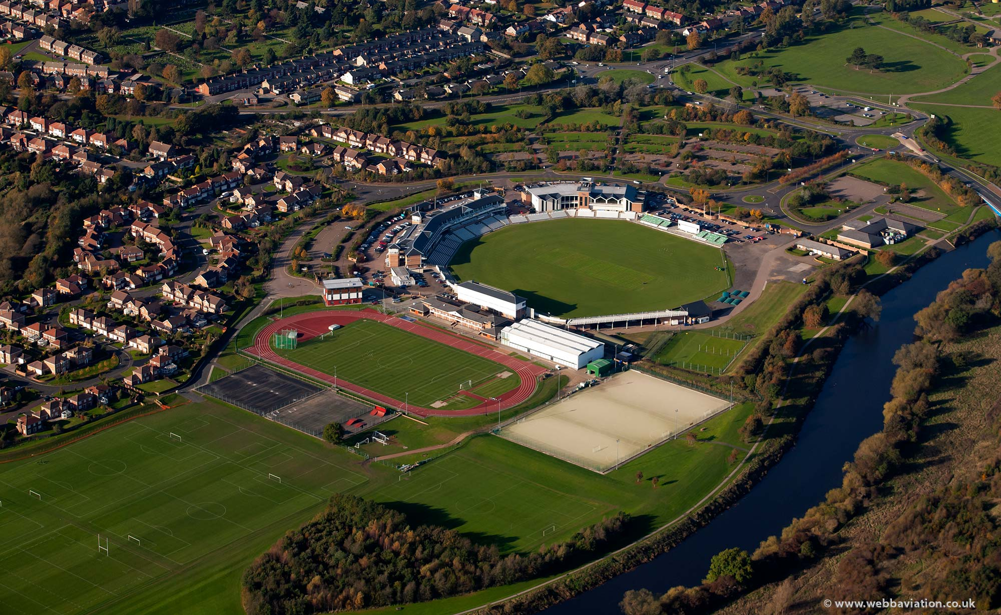 Emirates Riverside Ground   cricket Ground  aerial photograph