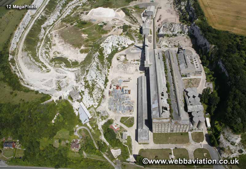 Shoreham Cement works and Chalk Quarry East Sussex  aerial photograph