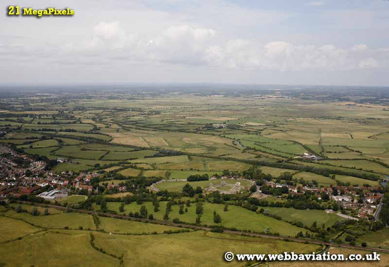 Pevensey East Sussex aerial photograph