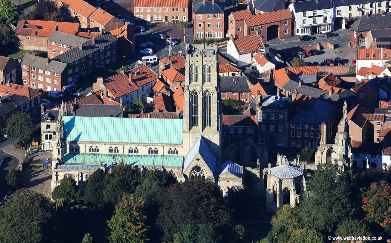 Howden Minster Yorkshire aerial photograph
