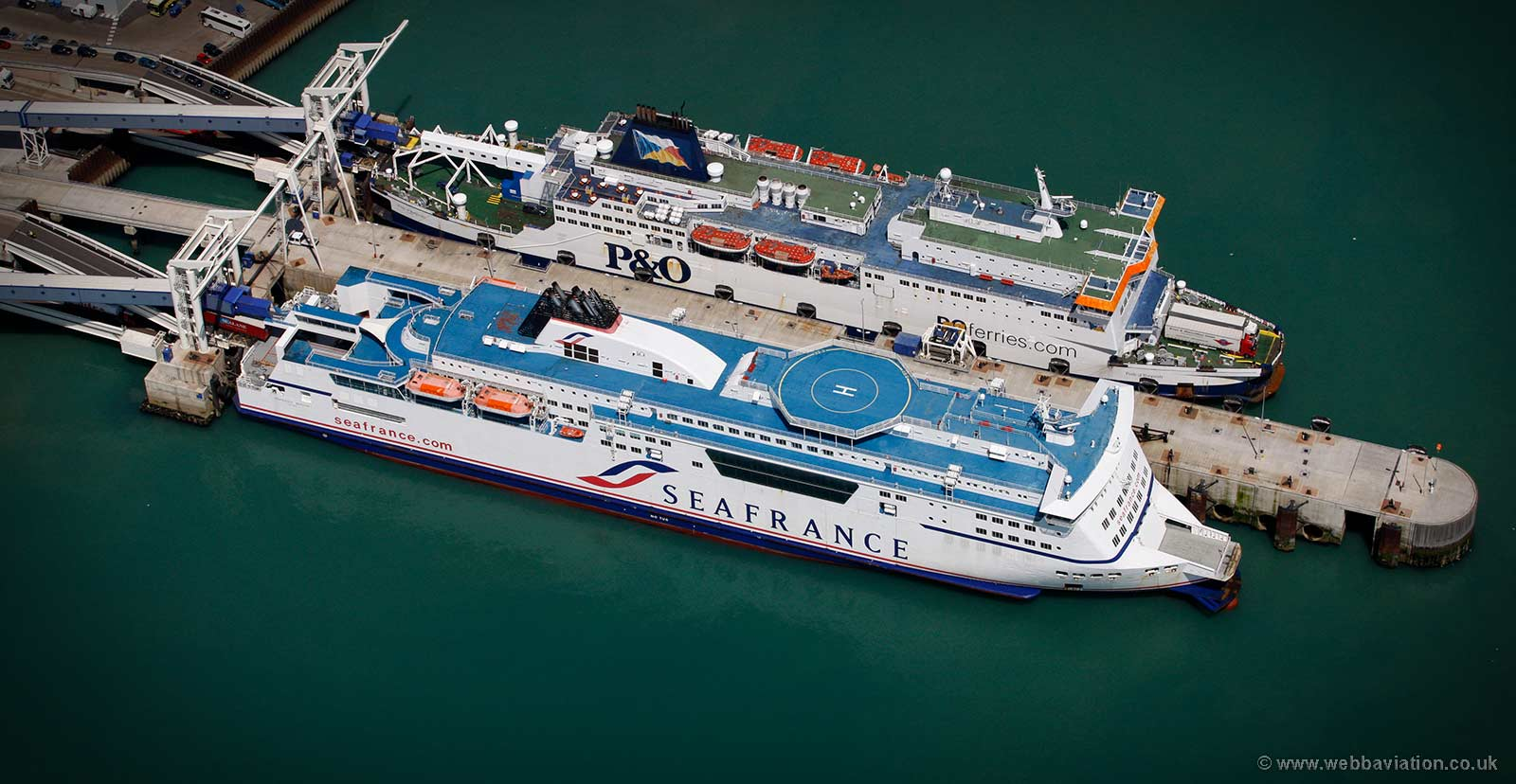 SeaFrance Berlioz in the Port of Dover  from the air