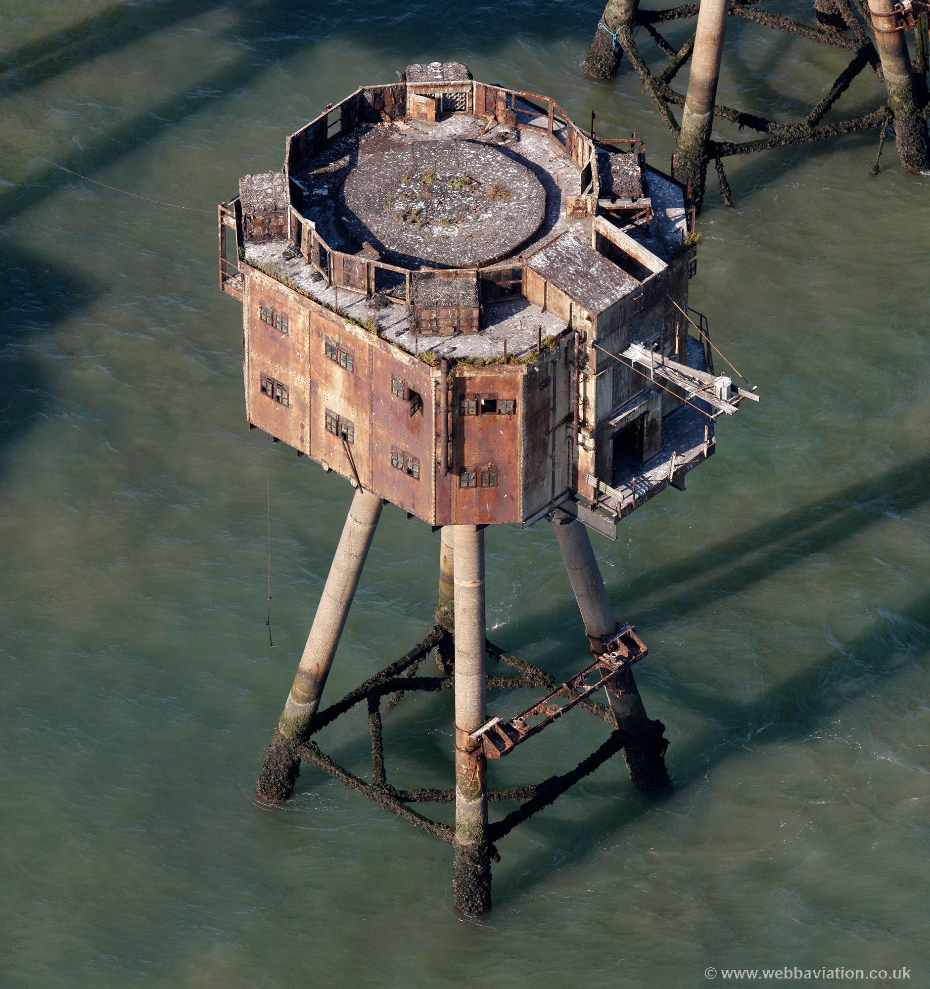 Maunsell Sea Forts aerial photograph