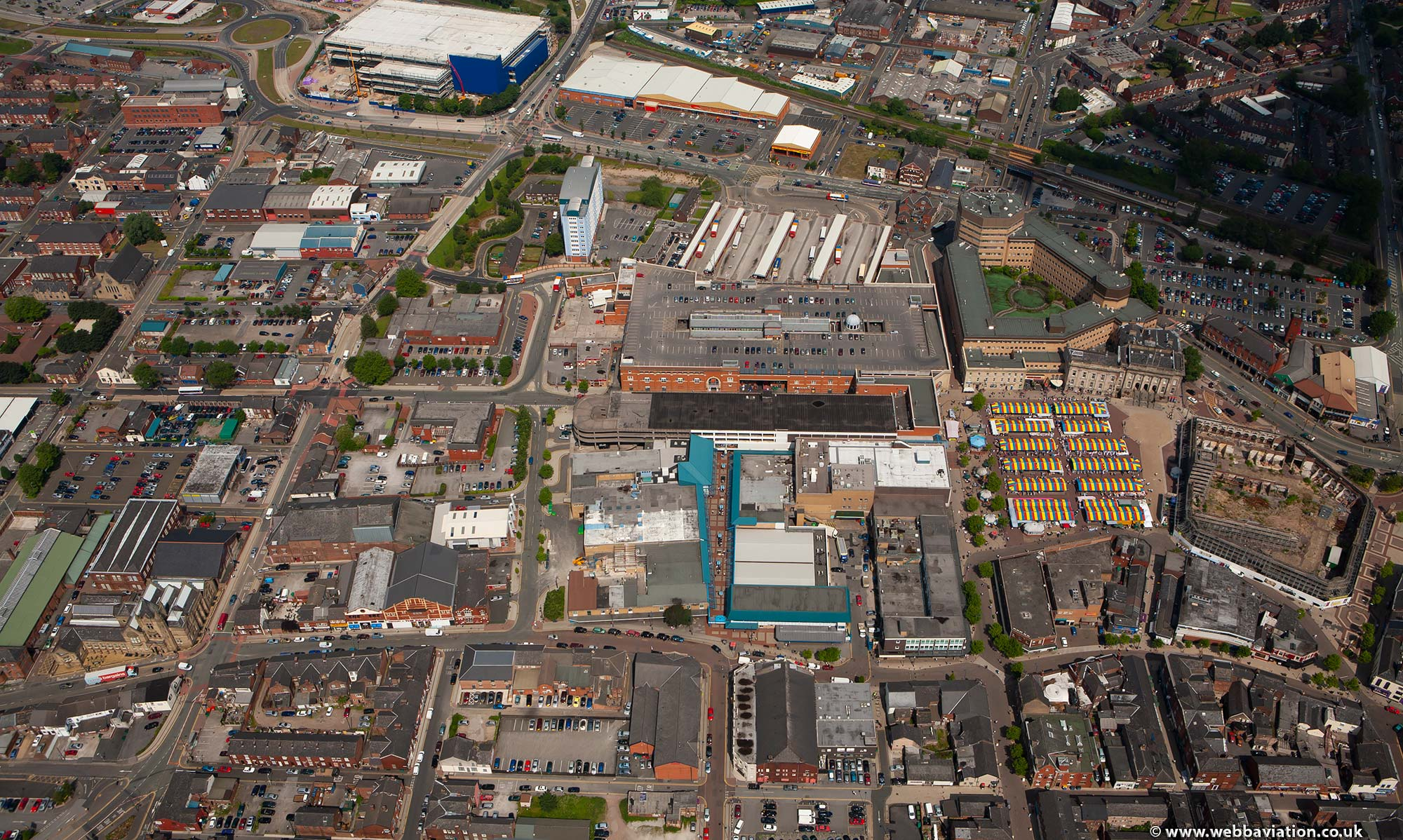 Ashton-under-Lyne Tameside, Greater Manchester  aerial photograph