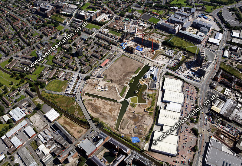 aarchive old aerial photograph of the New Islington Project Manchester UK taken 2007