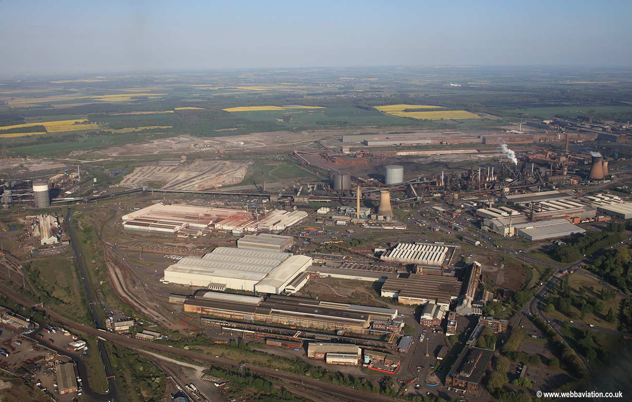 Scunthorpe Steelworks aerial photograph