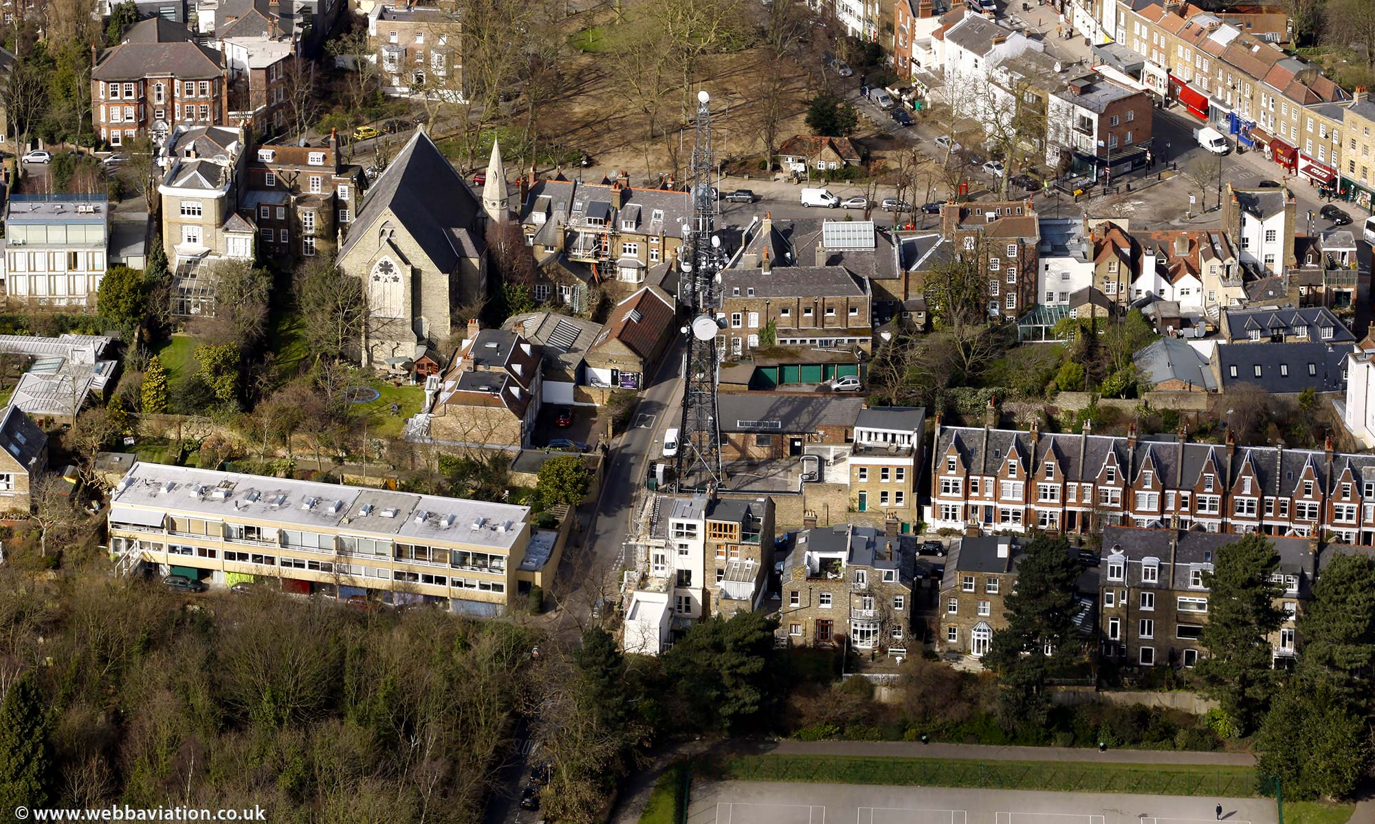 Highgate Camden London England UK aerial photograph
