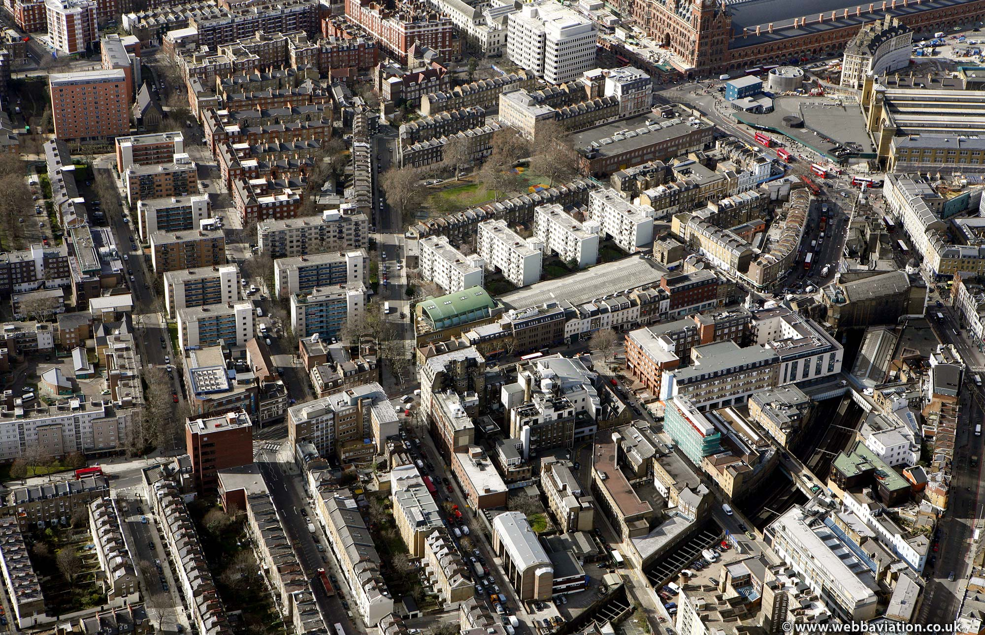 Camden  London England UK aerial photograph