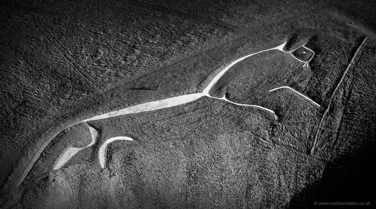 Uffington White Horse Oxfordshire aerial photograph
