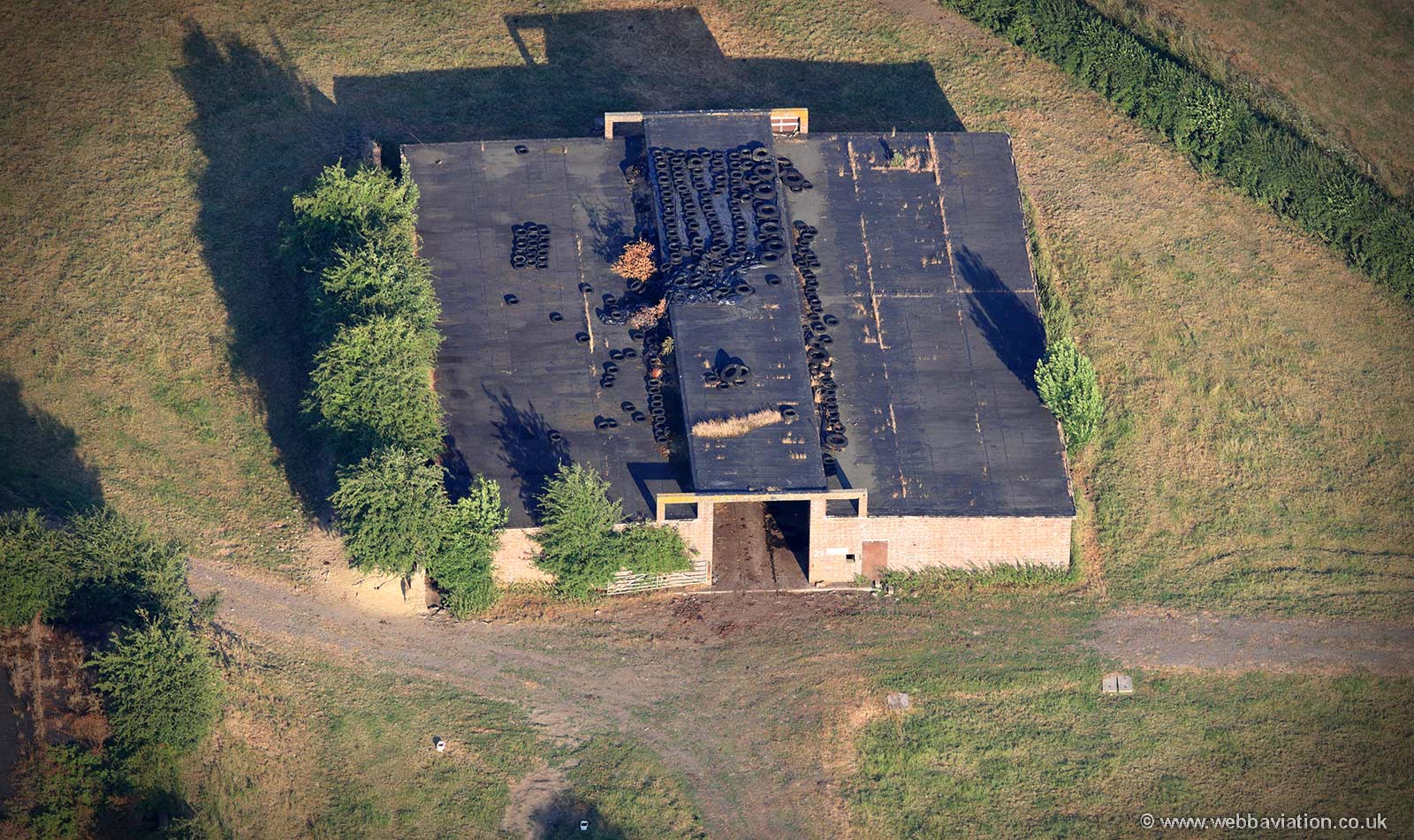 Kinnerley Ammunition Depot ( ammo dump )from the air
