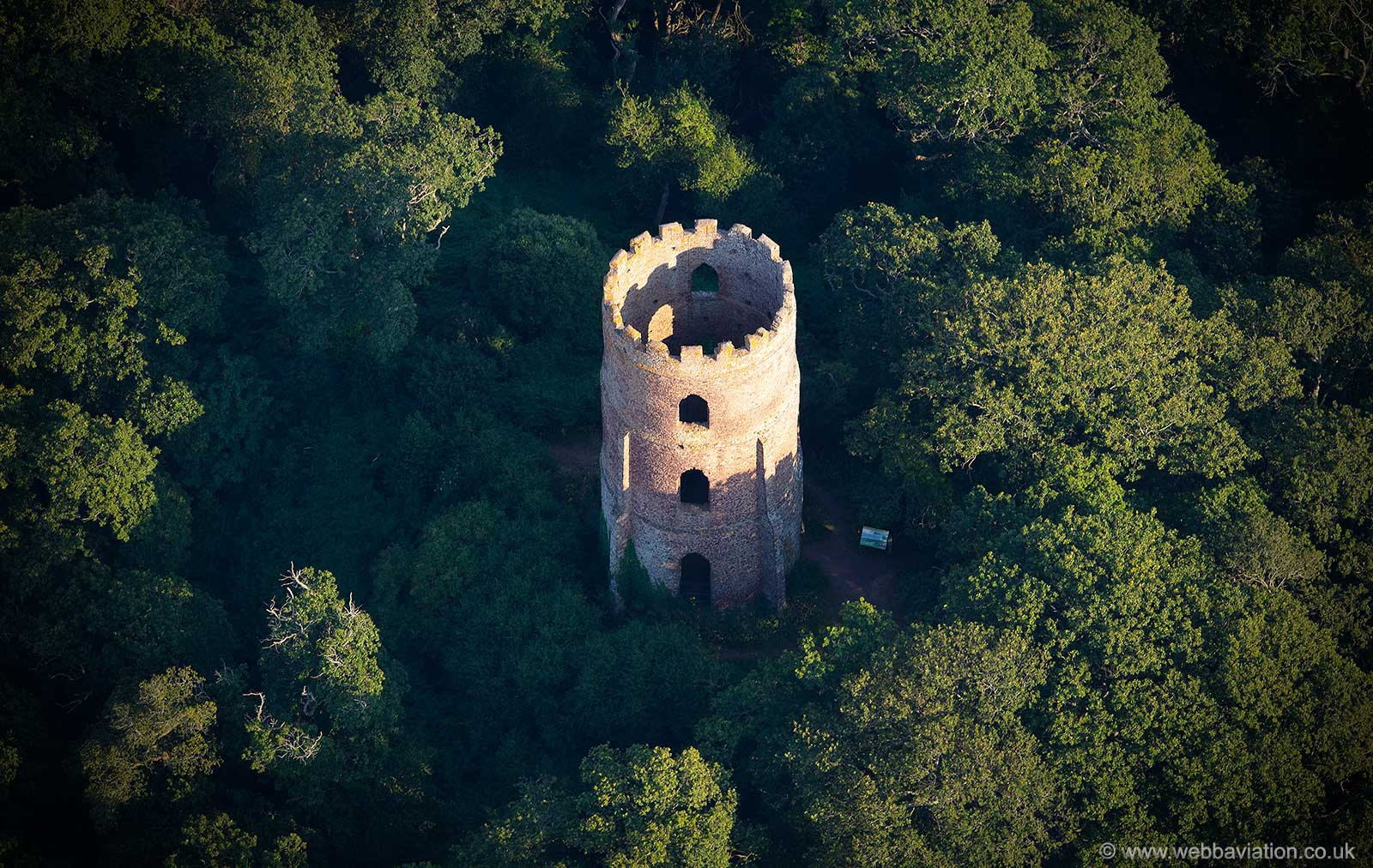 Conygar Tower from the air
