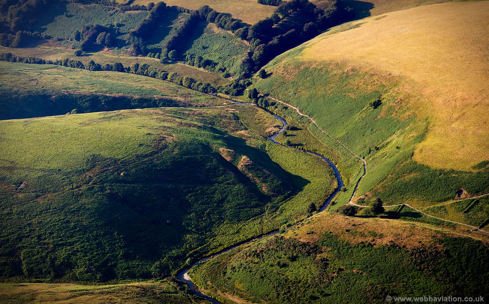 River Barle Exmoor National Park aerial photograph