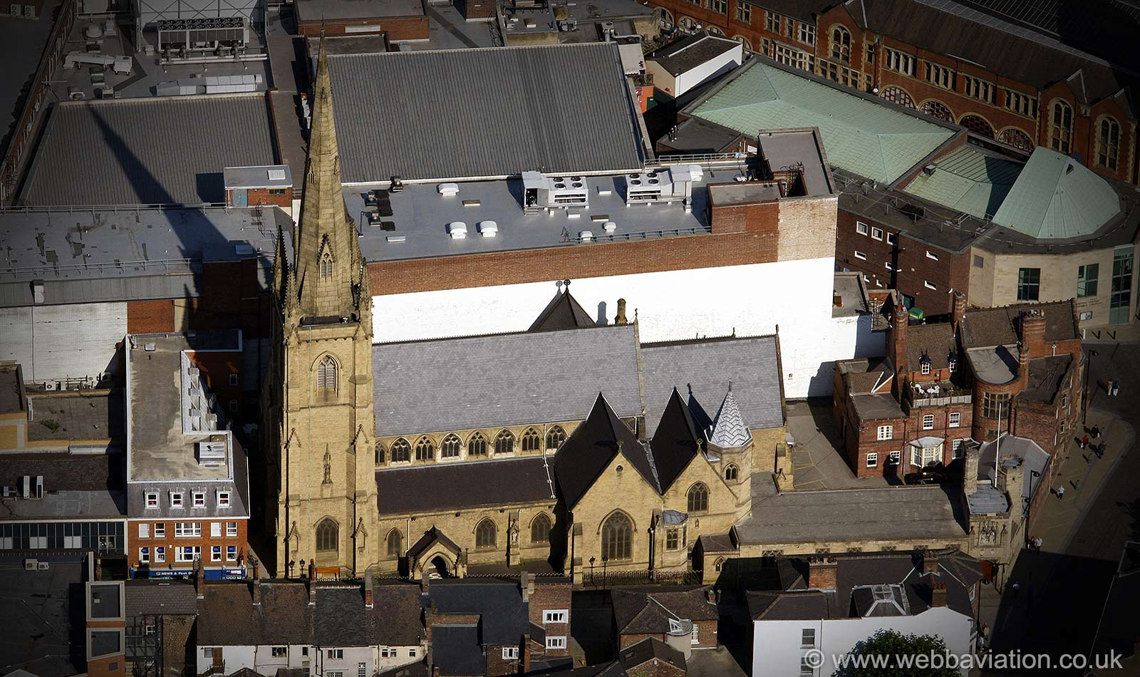 Sheffield Catholic Cathedral from the air