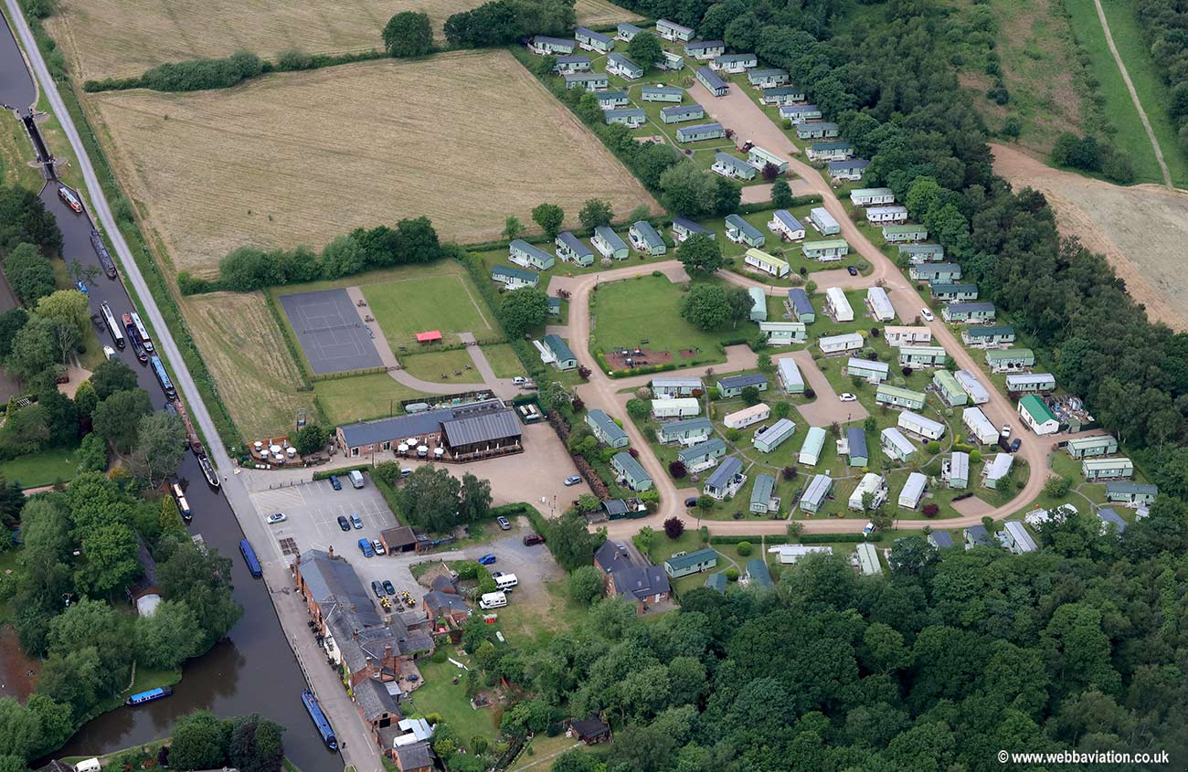 Staffordshire Holiday Park Fradley Junction near  Lichfield   aerial photograph
