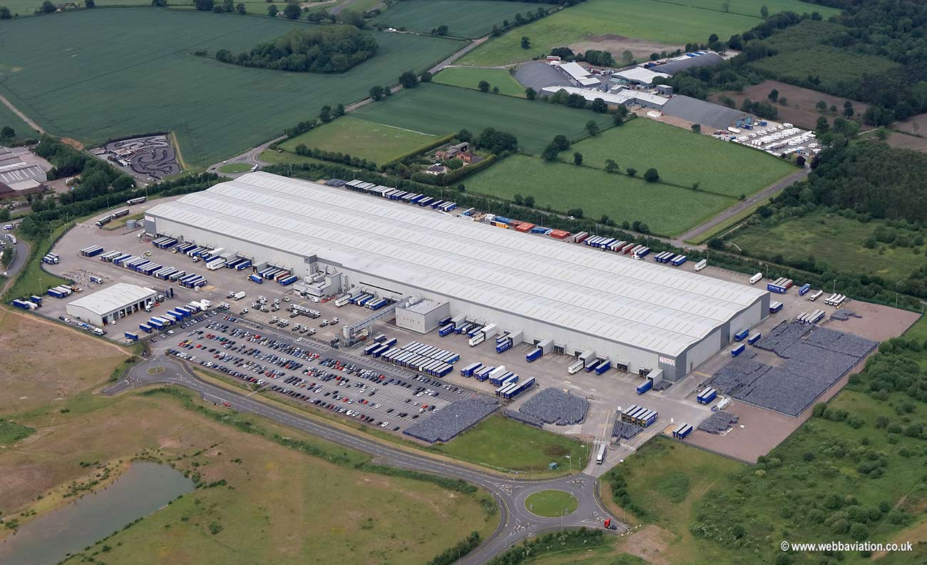 Tesco Distribution centre at Fradley   Park Wood End Lane Lichfield WS13   aerial photograph