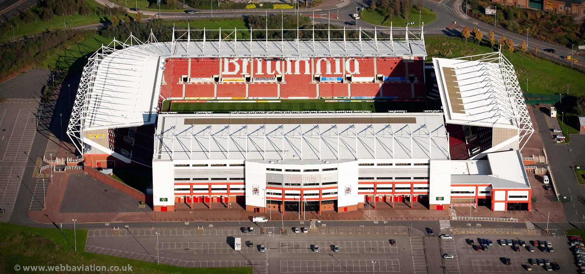 The bet365 Stadium football stadium , aka Britannia Stadium