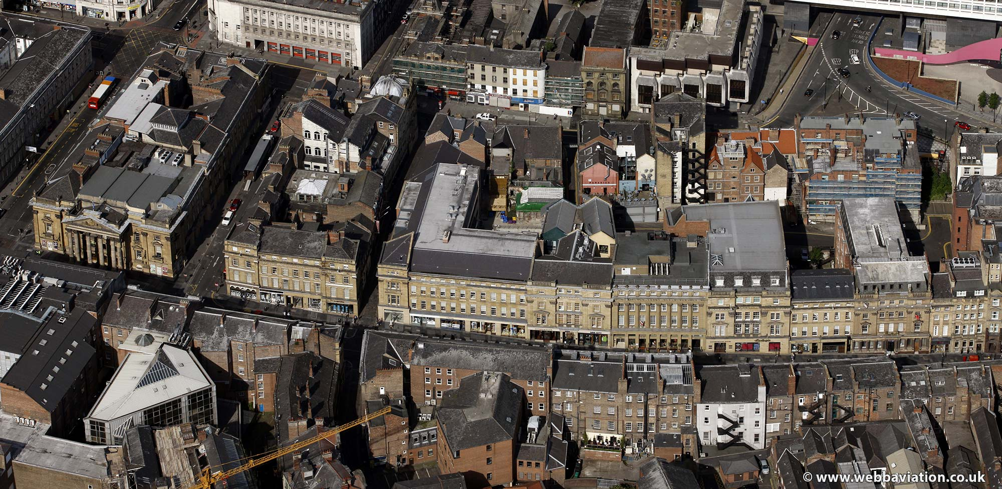 Grey Street Newcastle upon TyneTyne and Wear aerial photograph