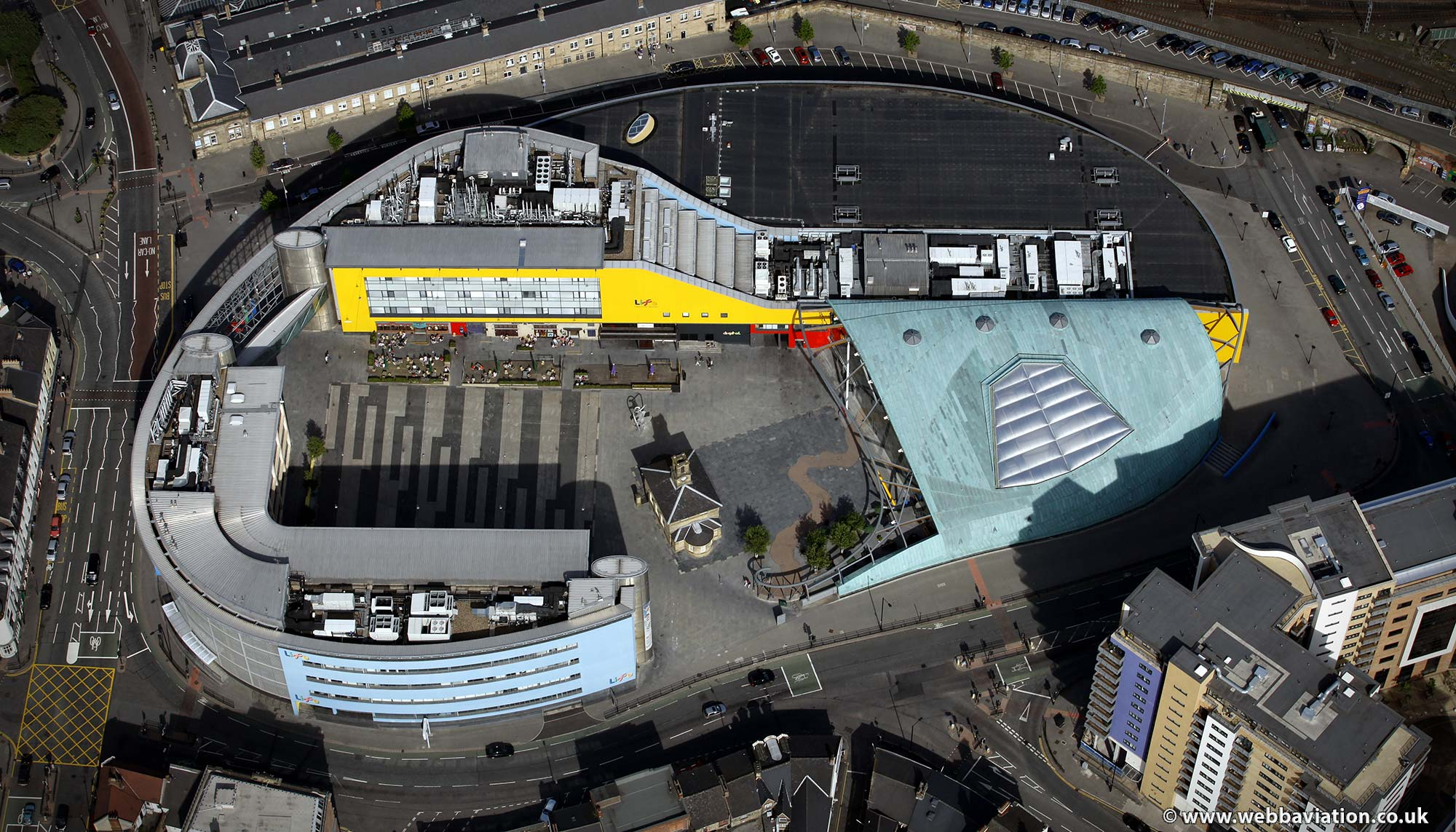 Life Centre Newcastle upon TyneTyne and Wear aerial photograph