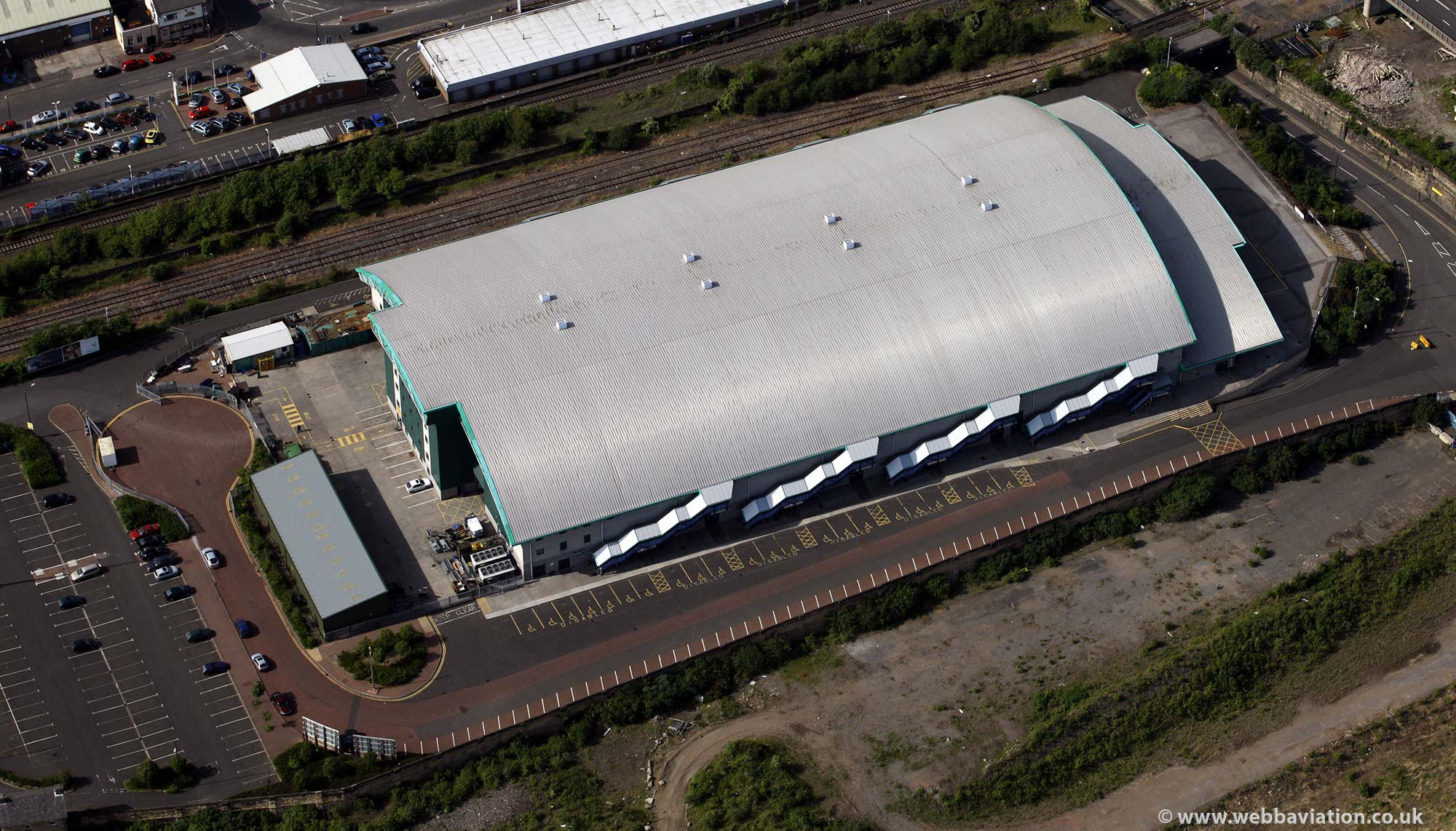 Metro Arena Newcastle upon TyneTyne and Wear aerial photograph